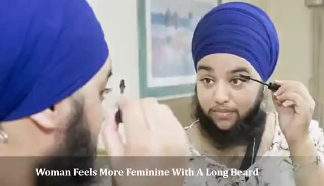 Watch Woman Feels More Feminine With A Long Beard- Harnaam Kaur GIF on Gfycat. Discover more related GIFs on Gfycat