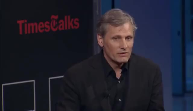 Watch and share Viggo Mortensen I Interview I TimesTalks GIFs on Gfycat