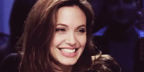 Watch this angelina jolie GIF on Gfycat. Discover more actress, angelina jolie, beautiful, celebs, i love her, interview, laugh, so much, spontaneity GIFs on Gfycat
