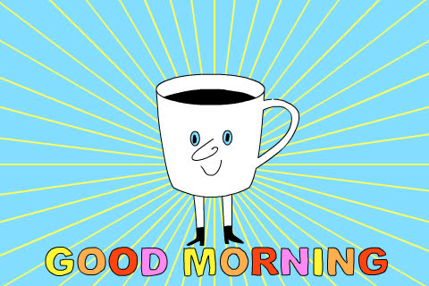 around, celebrate, coffee, excited, good, good morning, happy, jump, morning, smile, sunday, Good morning  GIFs