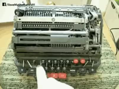 Watch and share A Mechanical Calculator Dividing By Zero GIFs on Gfycat