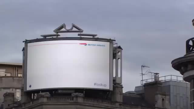 Watch A BA billboard in London where the kid points at a passing plane and the screen gives you information on the flight. GIF on Gfycat. Discover more billboard GIFs on Gfycat
