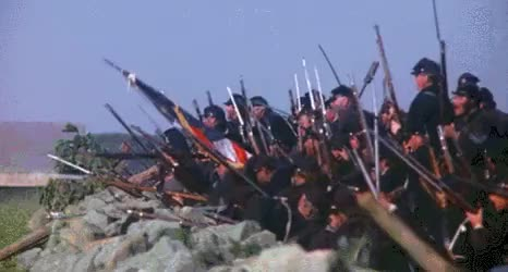 Watch and share Union Irish Regiment Opens Fire On Confederate Volunteers GIFs by nurdbot on Gfycat