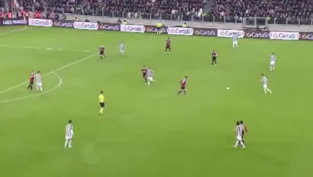 Watch and share Gol Di Mirko Vucinic In Juventus - Milan 2 - 2 - Coppa Italia 2011-2012 - 20/03/2012 GIFs on Gfycat