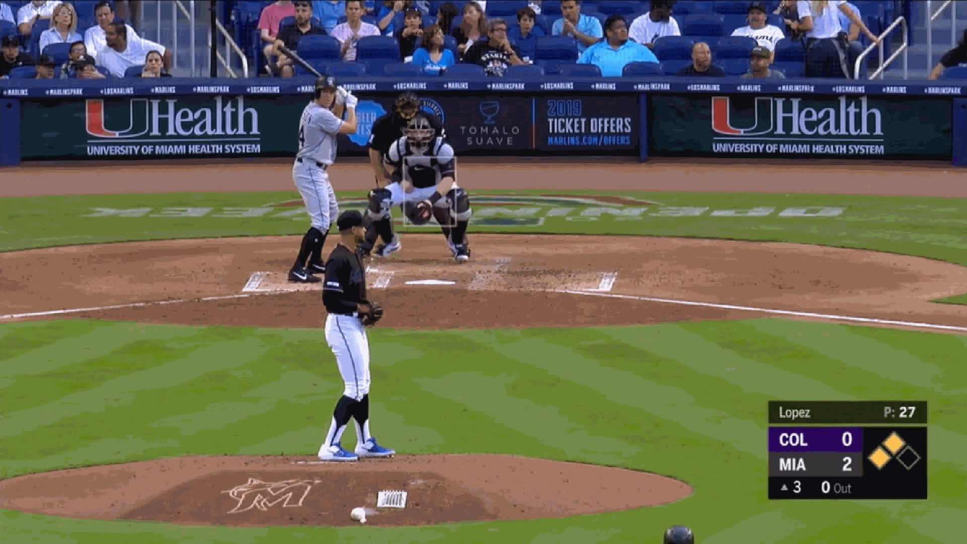 Colorado Rockies, Miami Marlins, baseball, Pablo Lopez-FB-b2bstrikesinside GIFs