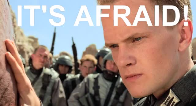 "Watch ""It's Afraid!"" GIF by @mckevstah on Gfycat. Discover more Starship, Starship Troopers, Troopers GIFs on Gfycat"