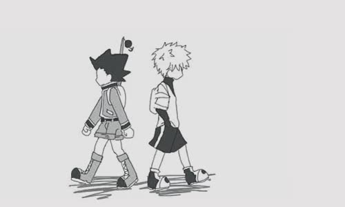 Watch Hunter x Hunter wallpaper entitled Gon and Killua GIF on Gfycat. Discover more related GIFs on Gfycat