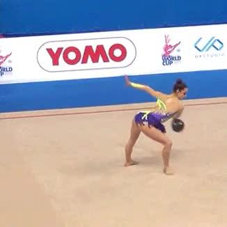 Watch and share Letizia Cicconcelli GIFs and Rhythmic Gymnastics GIFs on Gfycat