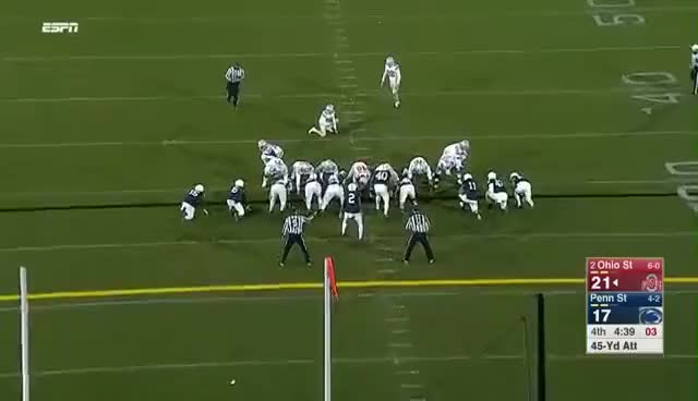 Watch and share Penn State Blocks Field Goal And Grant Haley Scores A Touchdown Vs. Ohio State GIFs on Gfycat