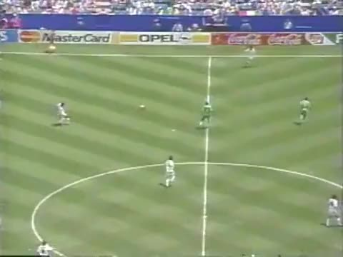 Watch and share FIFA World Cup 1994 1/8 Final - Nigeria Vs Italy GIFs by green_smiley on Gfycat