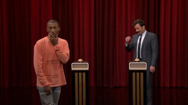 Watch and share Pharrell Williams GIFs and Jimmy Fallon GIFs on Gfycat