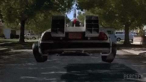Watch and share Back To The Future - Flying Car GIFs on Gfycat