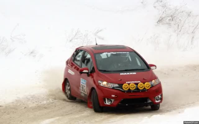 Watch and share 2015 Honda Fit Sno Drift Rally GIFs on Gfycat