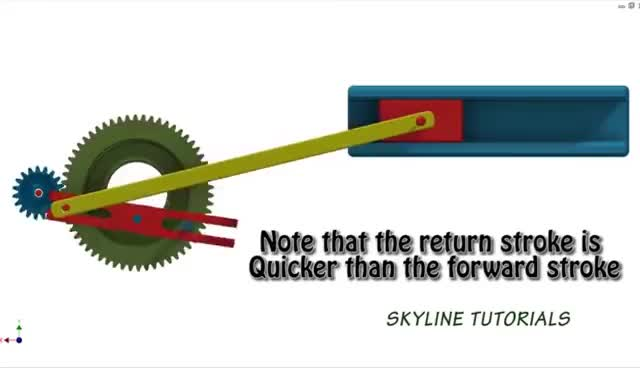 Watch and share Whitworth Quick Return Mechanism| Best Animation| Slider Crank Inversion_2 GIFs on Gfycat