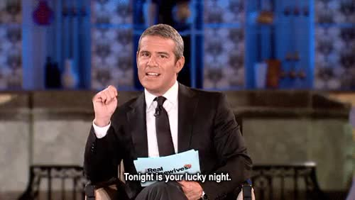 Watch this luck GIF on Gfycat. Discover more andy cohen, luck, lucky, lucky you GIFs on Gfycat