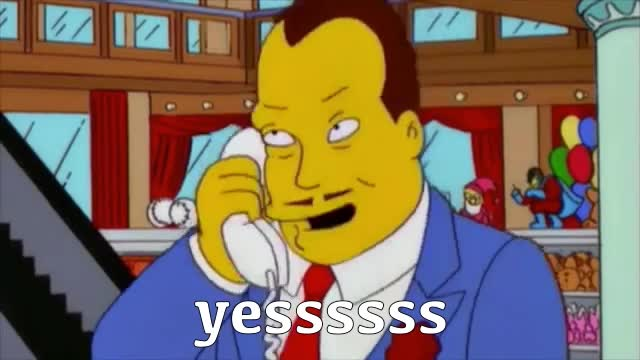 GIF Brewery, the-simpsons---the-yesssssss-guy-compilation, simpsons yessssssss GIFs