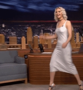 JenniferLawrence, jenniferlawrence, Jennifer Lawrence - Dancing on the tonight show (reddit) GIFs