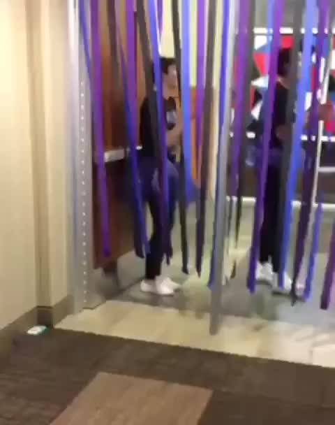 Watch Vertical ribbons in front of a safety door, wCGW? (reddit) GIF on Gfycat. Discover more related GIFs on Gfycat