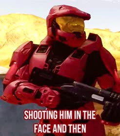 Watch and share Red Vs Blue GIFs and Caboose GIFs on Gfycat