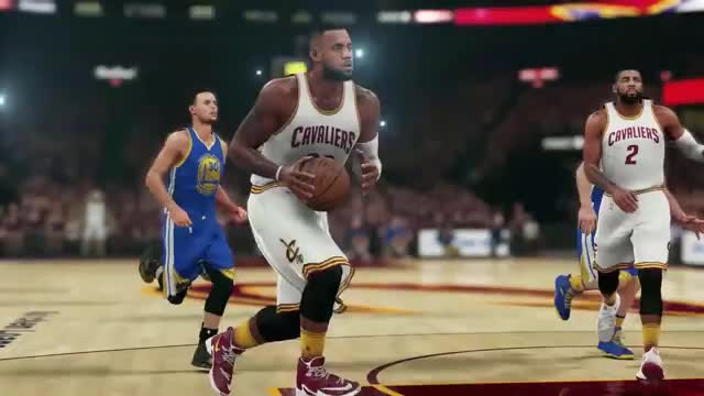 Watch and share NBA 2K16 Finals Sim Game 4 - Draymond Green Flagrant Foul GIFs by hitthepass on Gfycat