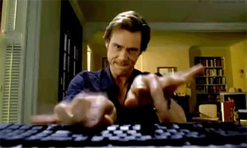 jimcarrey typing GIFs