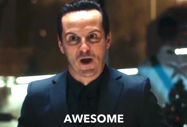 Watch this awesome GIF by GIF Queen (@ioanna) on Gfycat. Discover more AWESOME, Andrew Scott, Moriarty, Sherlock, andrew, epic, evil, funny, gossip, holmes, interest, interesting, me, mean, more, scott, tell, wait GIFs on Gfycat