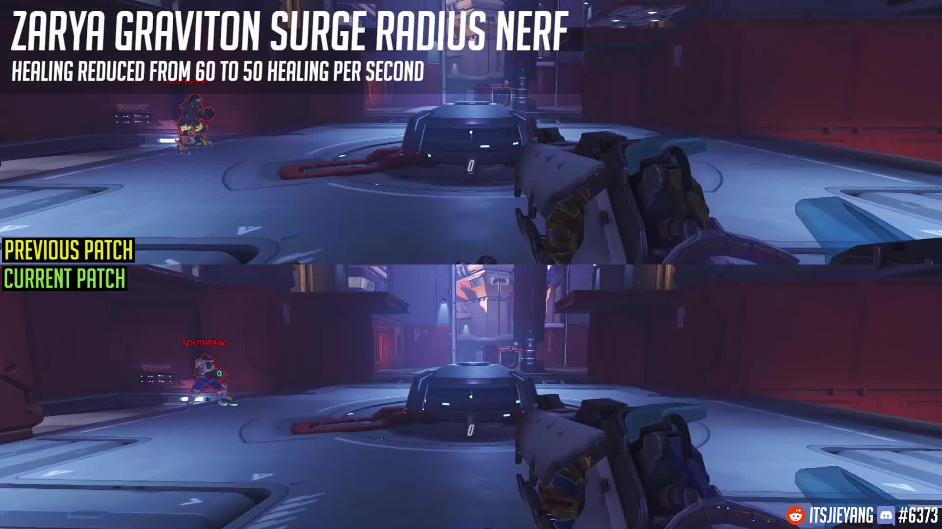 overwatch, zarya, Overwatch Patch 9th August - Zarya Graviton Surge Nerf GIFs