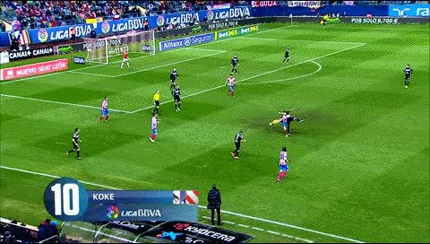 Watch and share Koke. Atletico Madrid - Levante. 2012-13 GIFs by fatalali on Gfycat