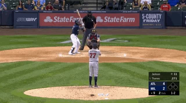 Watch and share Milwaukee Brewers GIFs and Atlanta Braves GIFs by natewattpl on Gfycat