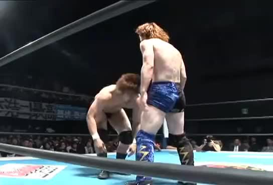 "Watch and share 2010.06.01 BEST OF THE SUPER Jr.ⅩII YOSHIHASHI Vs FUJITA""Jr""HAYATO GIFs on Gfycat"