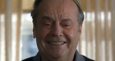 cry, crying, jack nicholson, sad, Jack Nicholson Crying GIFs