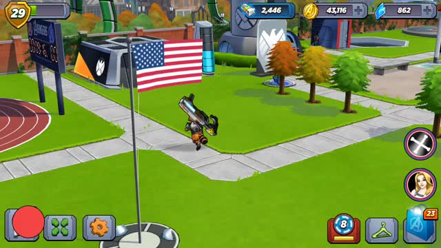 Watch and share Waving Flag-Avengers Academy GIFs by Steven Isaac on Gfycat