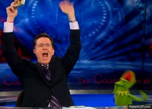 Watch this excitement GIF by Miss GIF (@mizznaii) on Gfycat. Discover more celebrate, celebration, excited, excitement, hooray, hurray, party, stephen colbert, yay GIFs on Gfycat