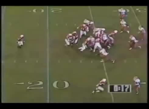 CFBgifs, cfbgifs, Tommy Frazier goes Beastmode (Nebraska vs Florida, 1996 Fiesta Bowl) (reddit) GIFs