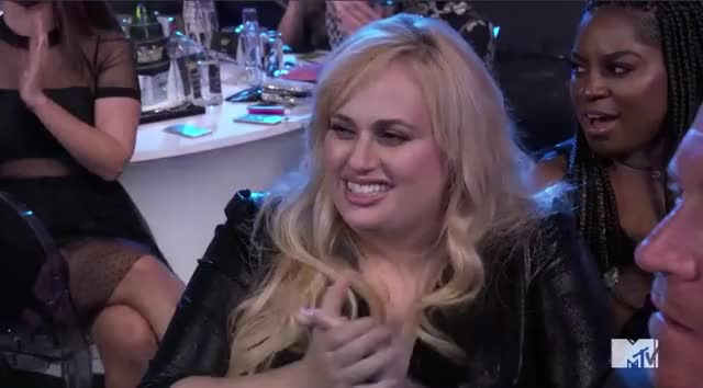 Watch and share Mtv Awards 2017 GIFs and Rebel Wilson GIFs by Reactions on Gfycat