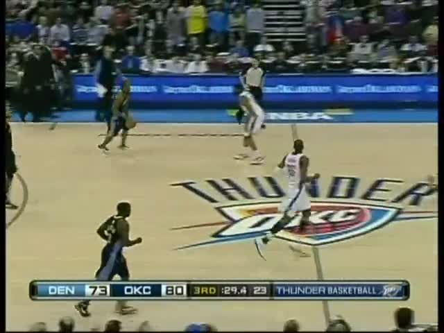 basketball, carmelo anthony, denver nuggets, floor, head, hip, hit, knocked, nba, nuggets, oklahoma city thunder, out, pass, play, shaboom gaming, sports, thunder, Melo laying on the court as play resumes GIFs