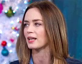 Watch and share Emily Blunt GIFs and Hair Flip GIFs on Gfycat