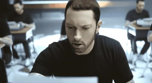 Watch this eminem GIF by GIF Queen (@ioanna) on Gfycat. Discover more a, check, eminem, fuck, grammar, minute, mistake, omg, on, paper, pissed, read, the, upset, wait, walk, water, what, write, wtf GIFs on Gfycat
