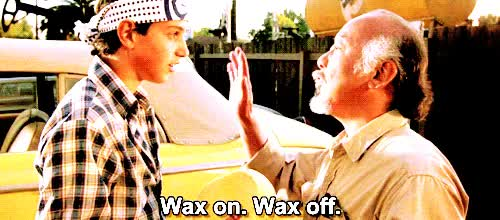 Watch and share Wax On GIFs on Gfycat
