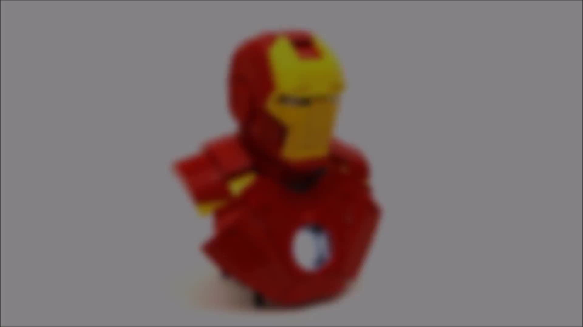 lego, vince, zeto, LEGO® Iron Man Bust GIFs