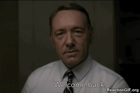 Watch Welcome Back GIF on Gfycat. Discover more kevin spacey GIFs on Gfycat