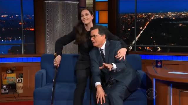 Watch this liv tyler GIF on Gfycat. Discover more Colbert, Evergreen, Hollywood, Humor, arwen, cbs, celeb, celebrities, celebrity, comedian, comedy, entertainment, famous, funny, interview, joke, jokes, ltotr, nonrecurring, undomiel GIFs on Gfycat