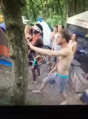 camping, pinata, wince, Drunk pinatas are never a good idea. GIFs