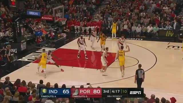 Watch and share Toe Harkless Showing Off His Elite Rim Protection GIFs on Gfycat
