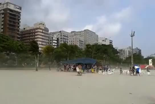 Watch and share Ventania Na Praia De Santos GIFs on Gfycat