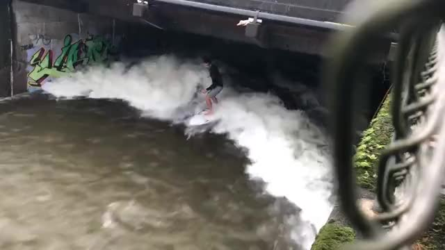 Watch and share Guy Surfs In Drainage Ditch After Hurricane In Hawaii GIFs on Gfycat