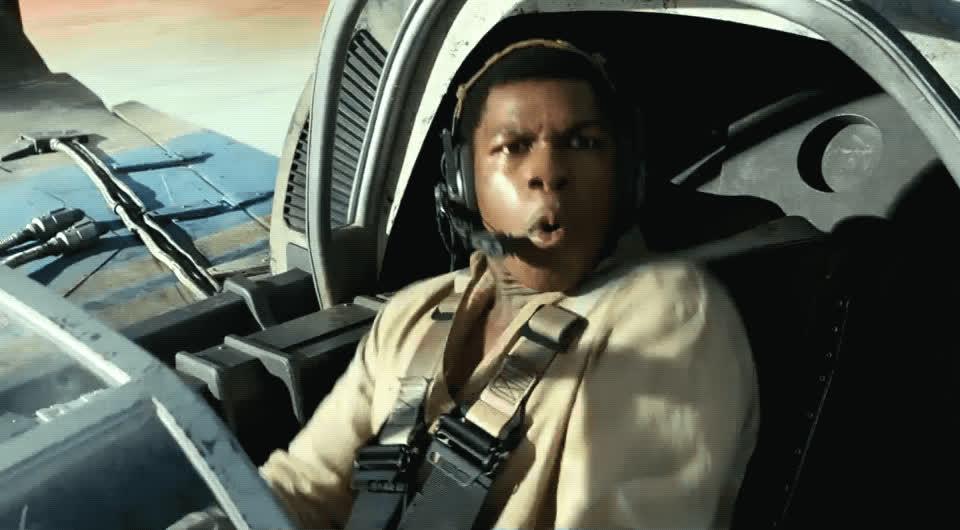 finn, john boyega, omg, star wars, the last jedi, whoo, yas, yes, Finn - Star Wars: The Last Jedi GIFs