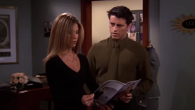 "Watch Friends - Joey's Bag - ""Unisex"" GIF on Gfycat. Discover more Friends, HD, TV series, TV series Friends, celebs, comedy, drama, friendship, love, matt leblanc, watch, watch Friends GIFs on Gfycat"