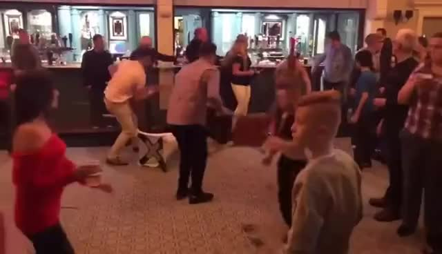 Riot at kickboxing event in Shannon GIFs