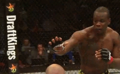 mmagifs, Ovaint St. Preux OSP multiple angles of left uppercut that put Cummins down or de-erected if you will. (reddit) GIFs